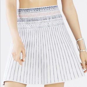 BCBG Textured Woodblock Jacquard A-line Skirt